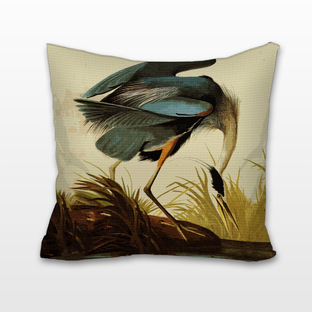 Great Blue Heron, Cushion, Pillow
