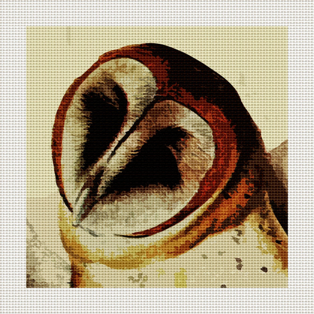 "Barn Owls, 5 x 5"" Miniature"