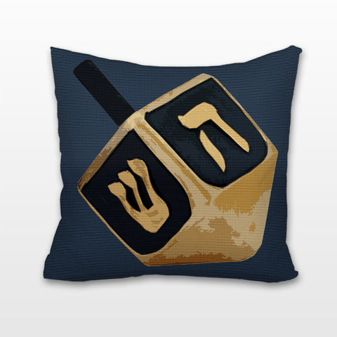 Dreidel, Dreidel, Dreidel, Cushion, Pillow