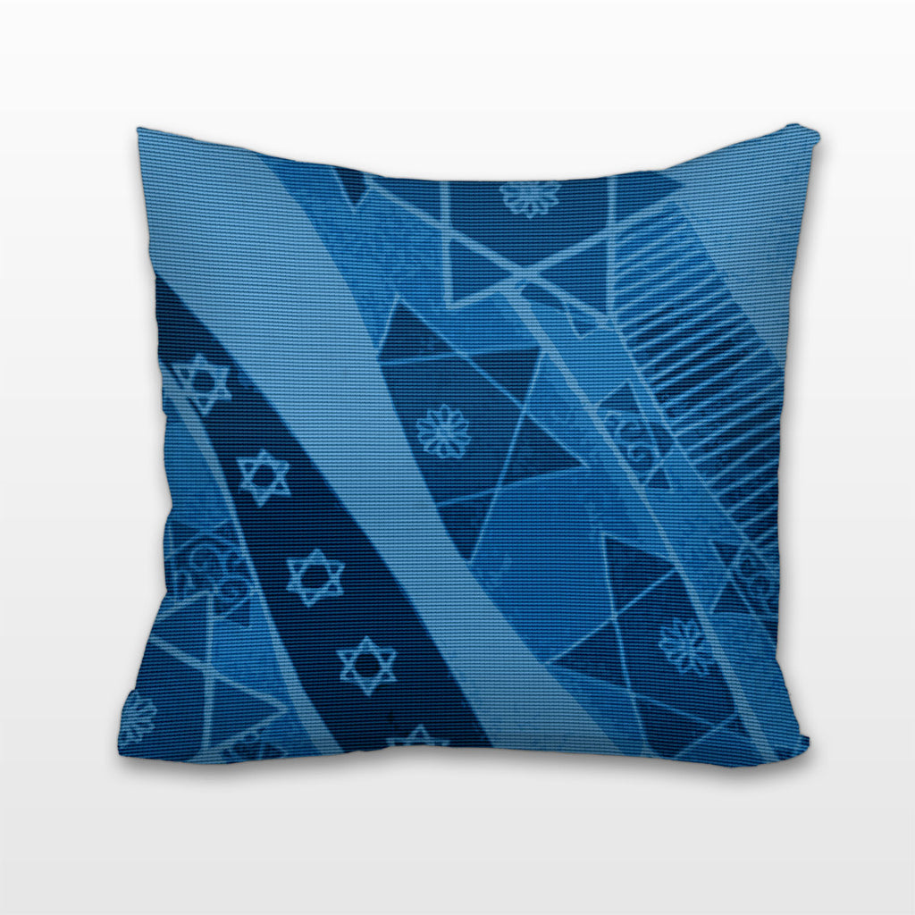 Stars of David in Blue, Cushion, Pillow