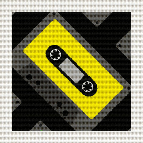 "Retro 80's Tape, 5 x 5"" Miniature"