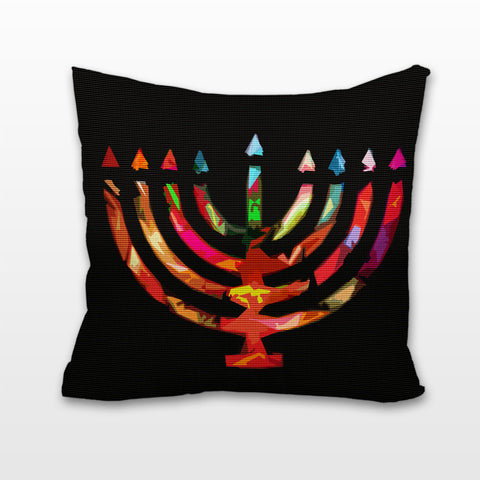 Abstract Menorah, Cushion, Pillow