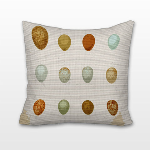 Naturalist Eggs, Cushion, Pillow