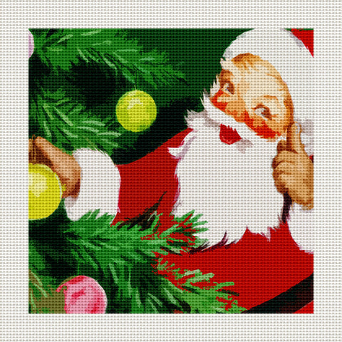 "Father Christmas, 5 x 5"" Miniature"