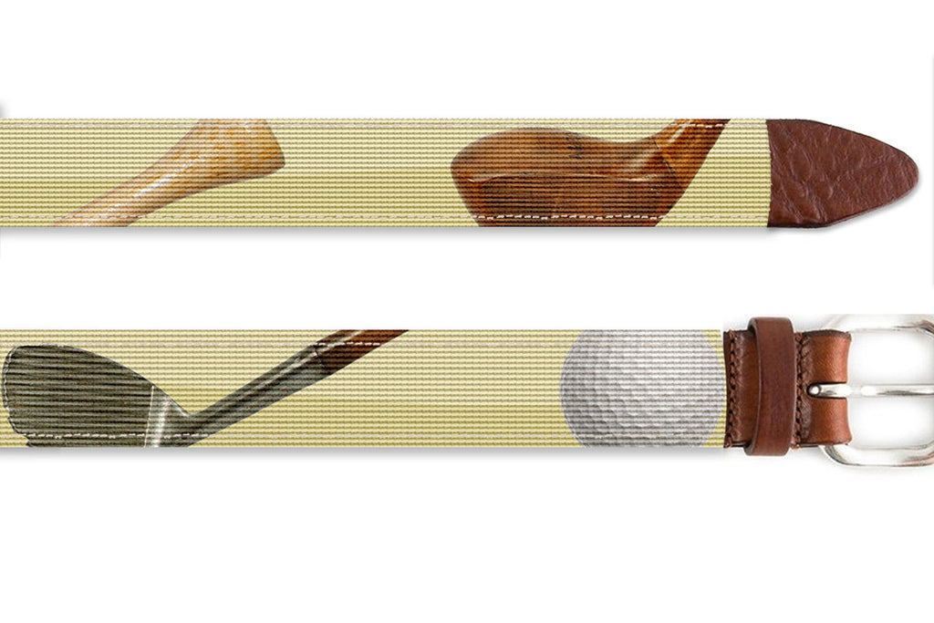 Good ol' Golf Needlepoint Belt