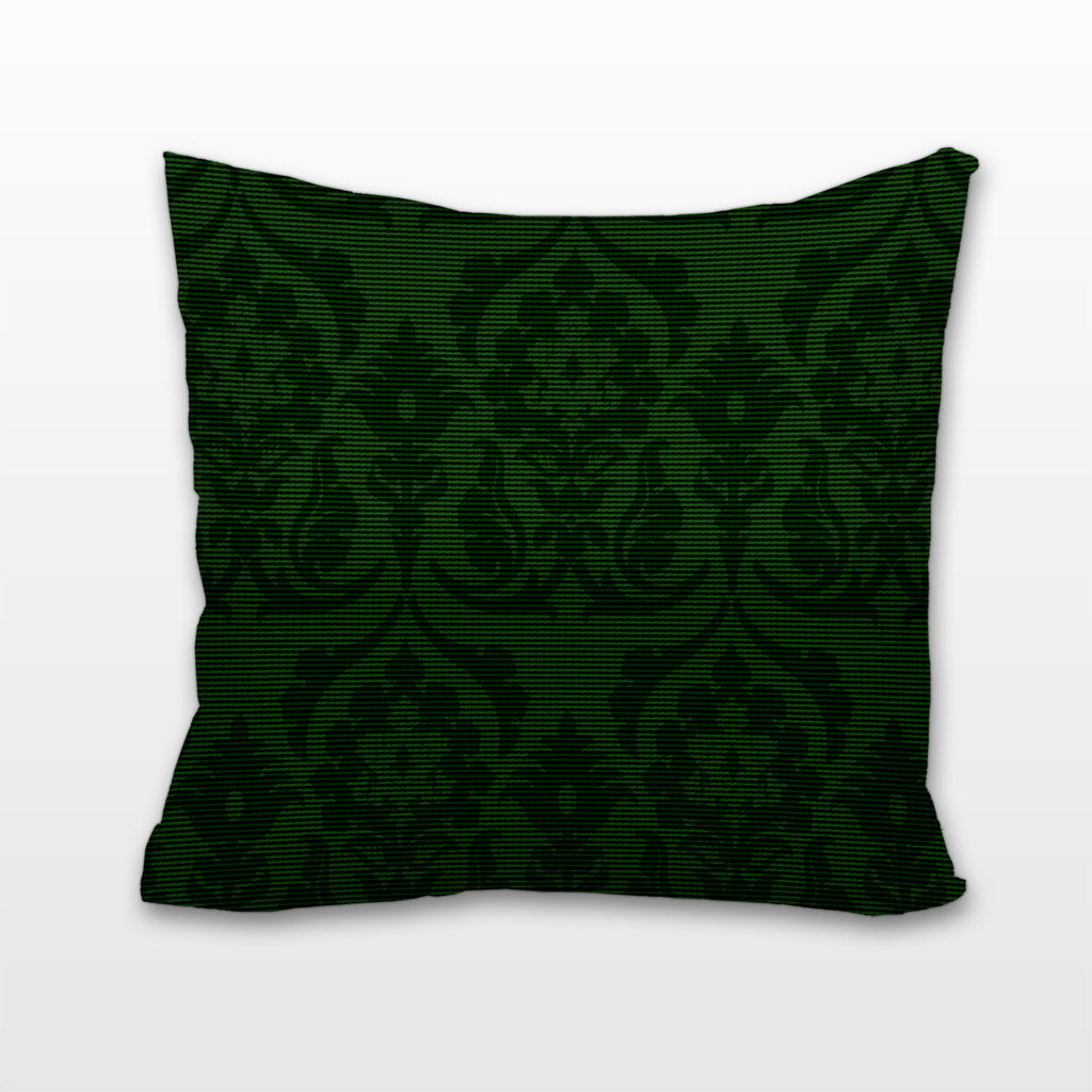 Green on Green Damask, Cushion, Pillow