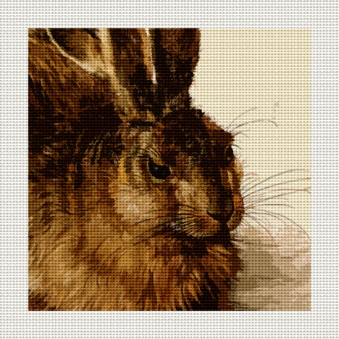 "Young Hare, 5 x 5"" Miniature"