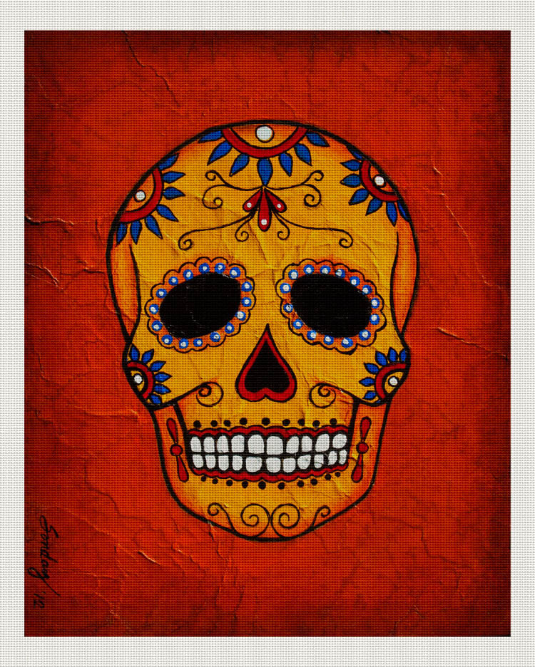 Day of the Dead Orange, Red, Joseph Sonday