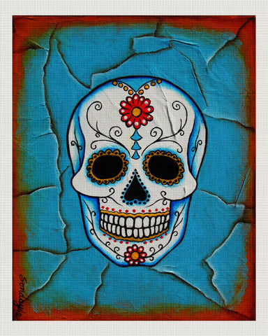 Day of the Dead White, Blue, Joseph Sonday