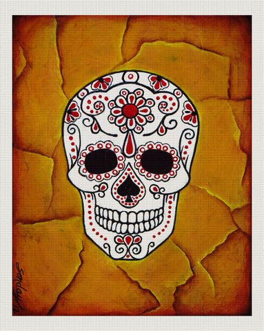 Day of the Dead White, Orange, Joseph Sonday