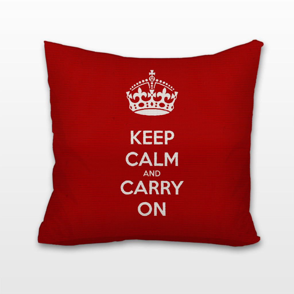 Keep Calm and Carry On, Cushion, Pillow