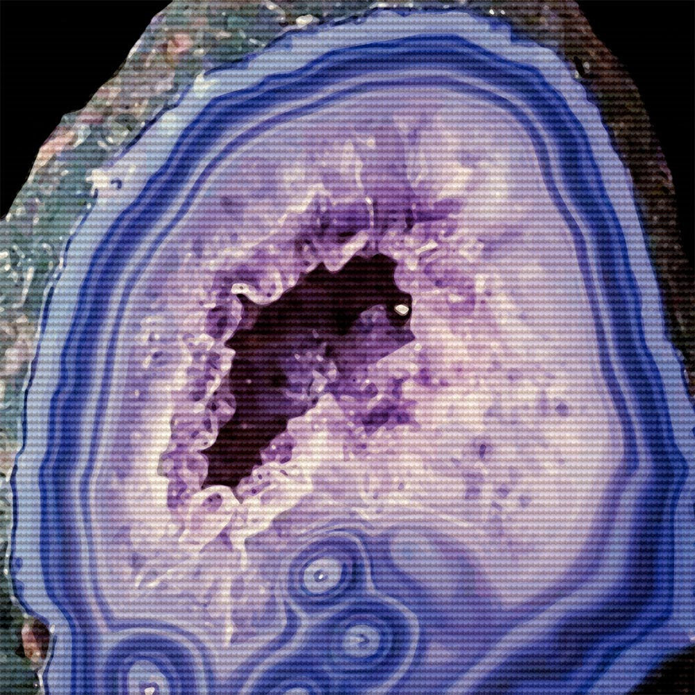 Lilac Geode, Kit or Canvas