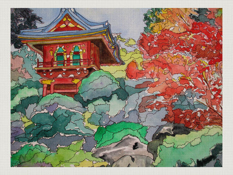 Japanese Tea Garden, Lillian Connelly