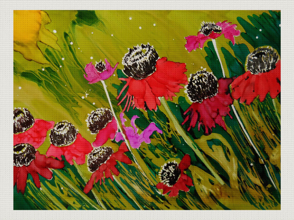 Pink Coneflowers in a Field, Lillian Connelly