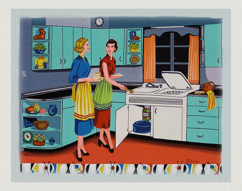 Retro Kitchen, Linda Tillman