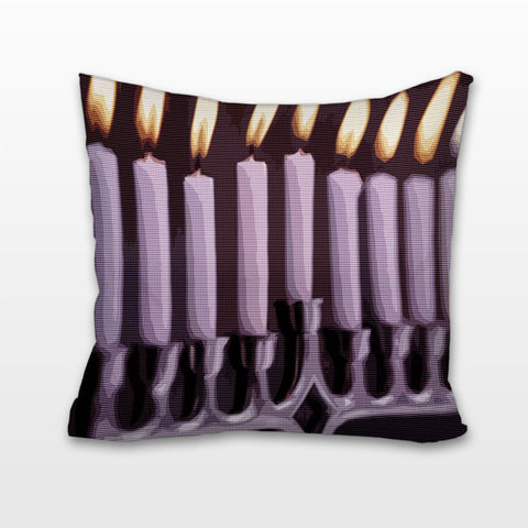 Menorah Ablaze, Cushion, Pillow