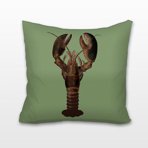 Lobster on Seafoam, Cushion, Pillow