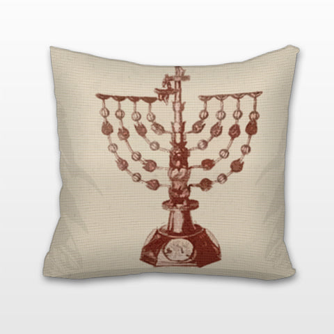 Ancient Menorah, Cushion, Pillow