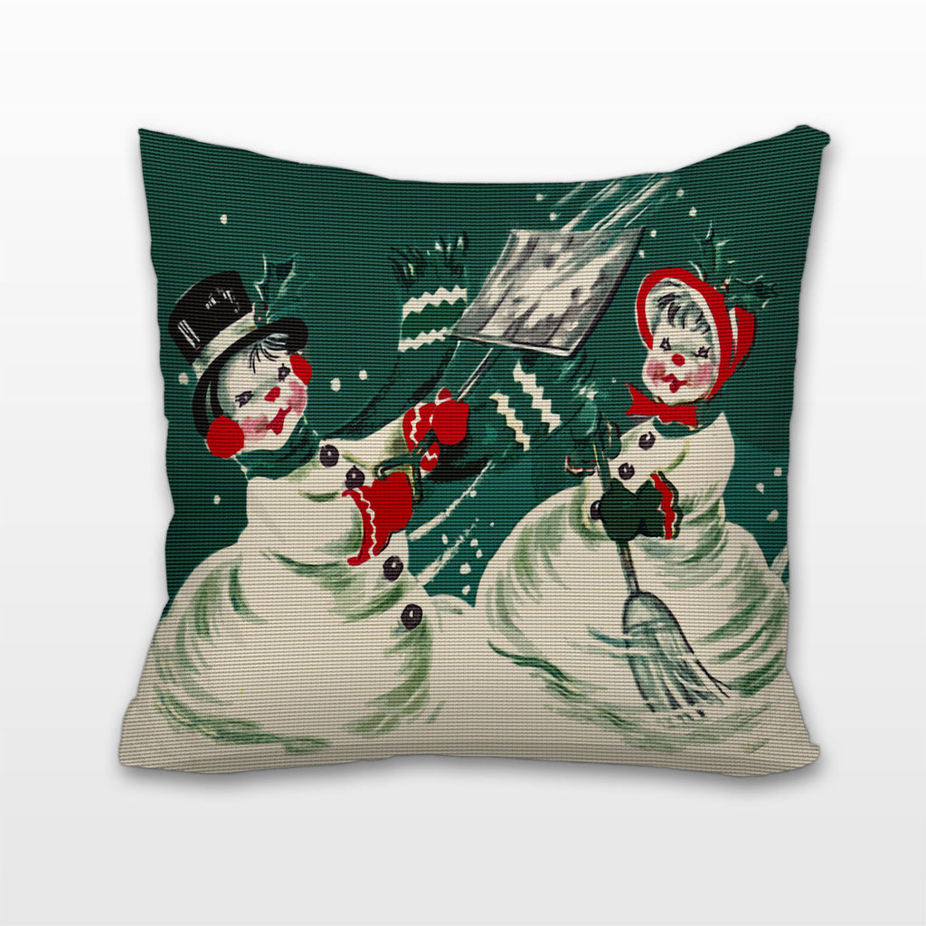 Mr. and Mrs. Snowman, Cushion, Pillow