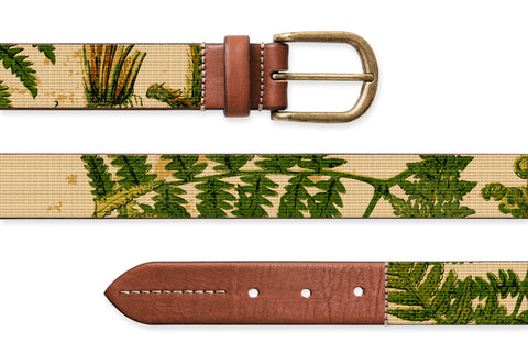 Naturalist Ferns, Needlepoint Belt