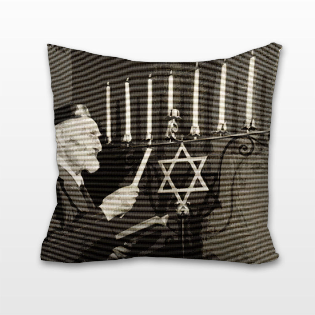 Lighting the Menorah, Cushion, Pillow