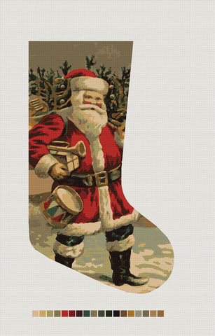 Old Saint Nick, Needlepoint Christmas Stocking