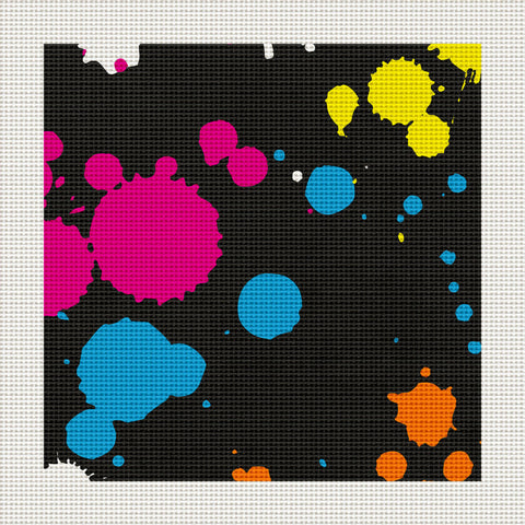 "80's Paint Splatter, 5 x 5"" Miniature"