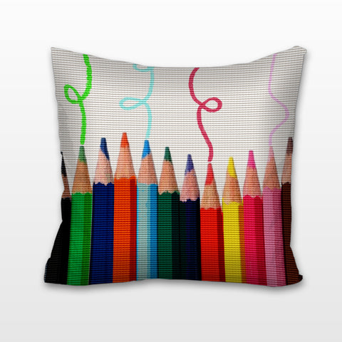 Pencil Pop Art, Cushion, Pillow