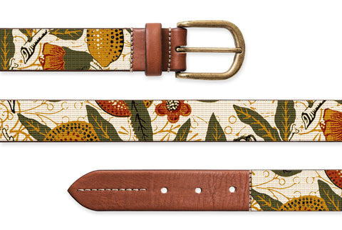 Pomegranate, Needlepoint Belt