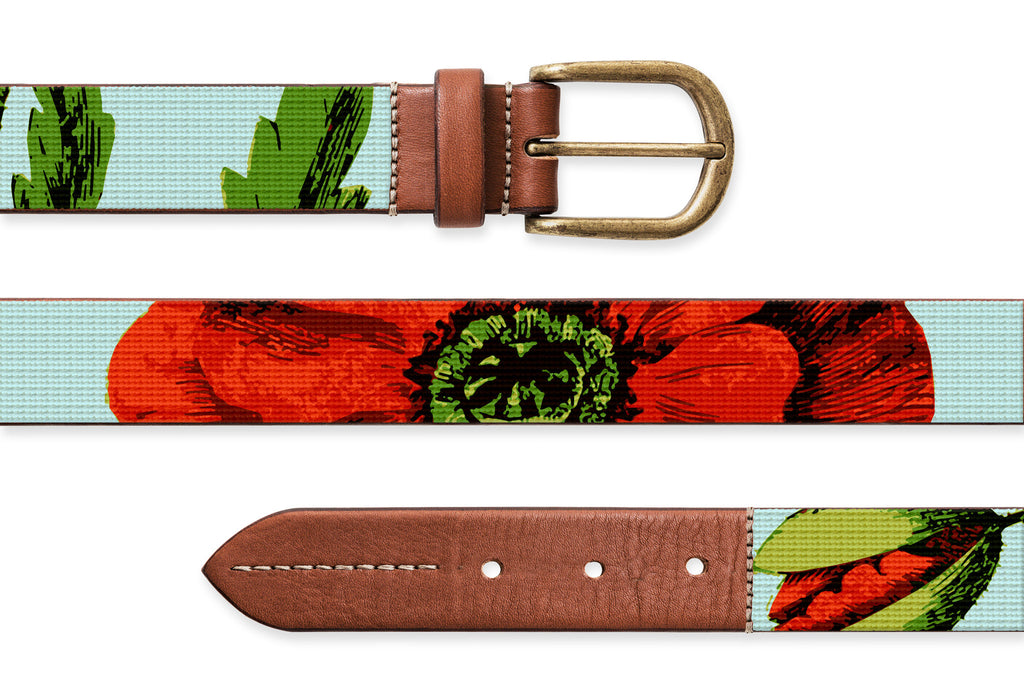 Poppy, Needlepoint Belt