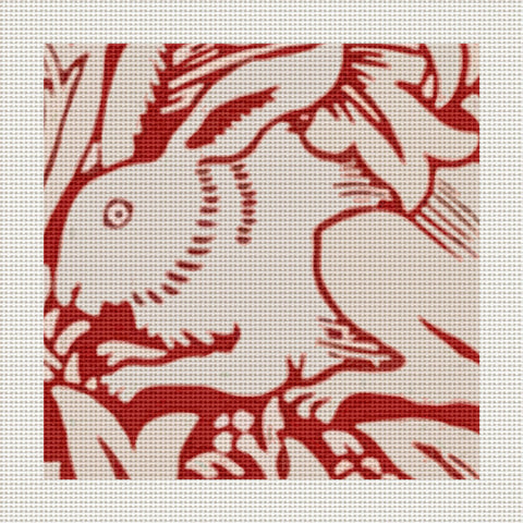 "Red Rabbits, 5 x 5"" Miniature"