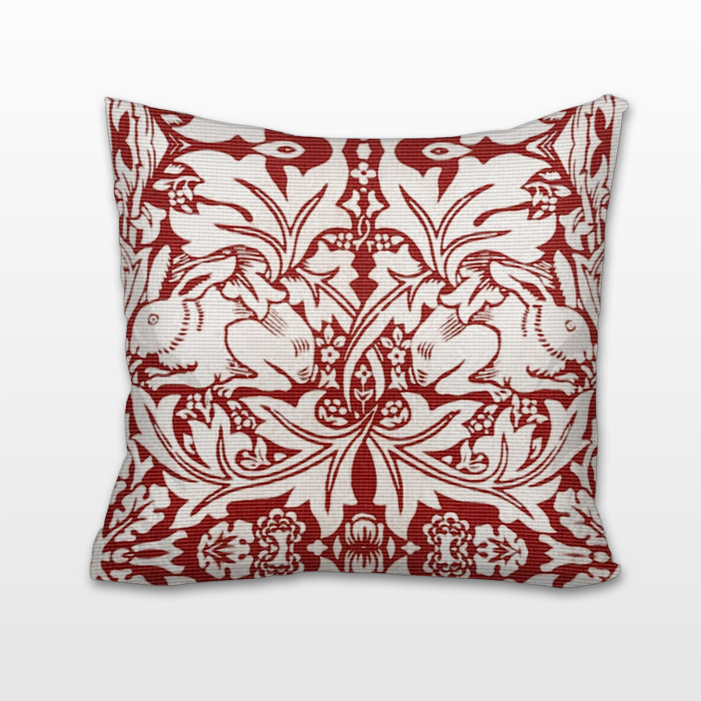 Red Rabbits, Cushion, Pillow