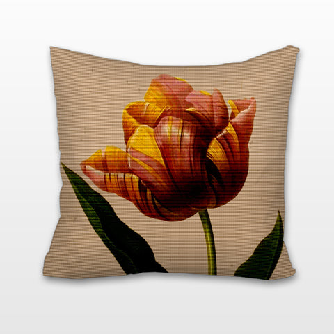 Red & Yellow Tulip, Cushion, Pillow