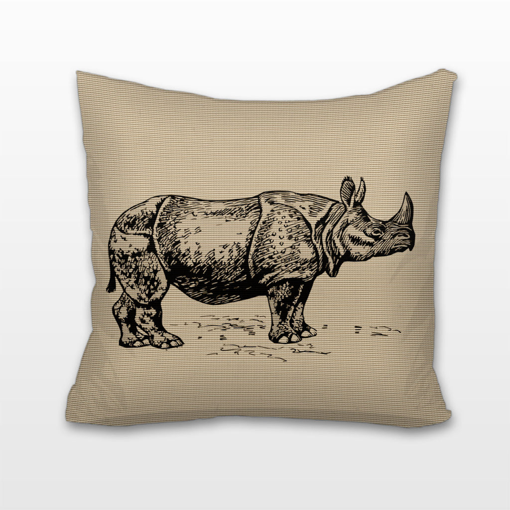 Rhino, Cushion, Pillow