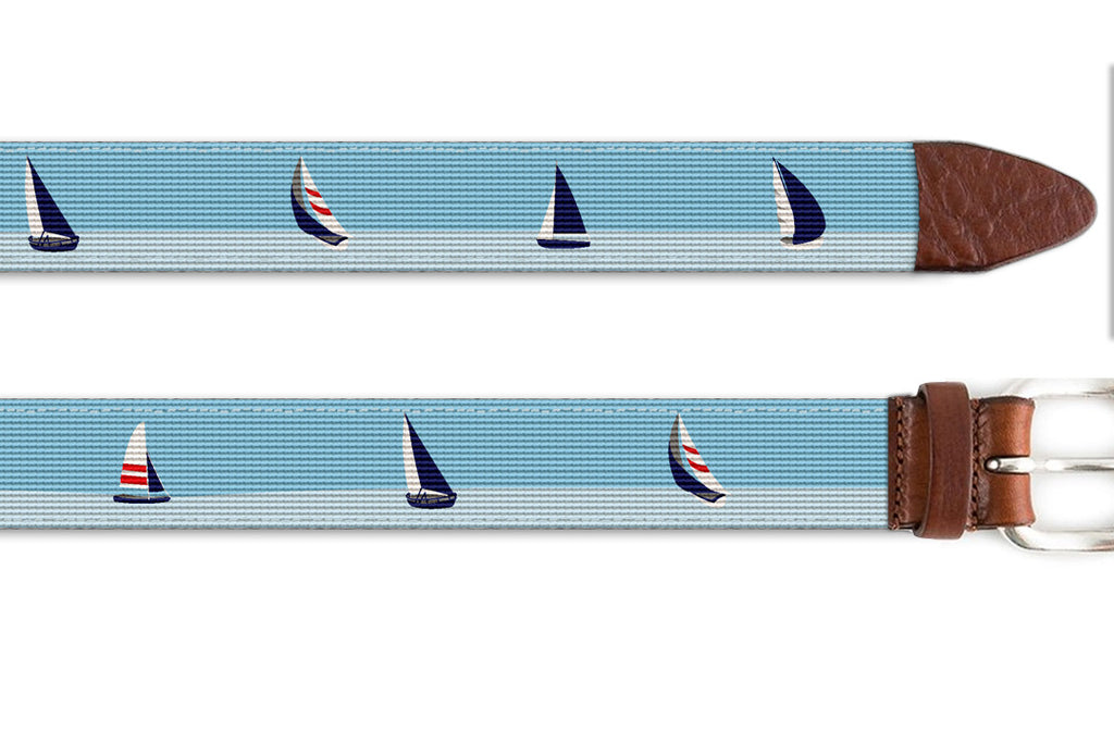 Smooth Sailing Needlepoint Belt