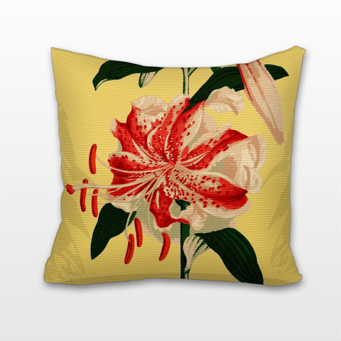Stargazer Lilly, Needlepoint Cushion, Pillow