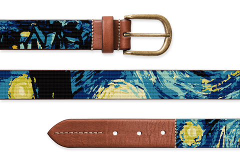 Starry Night, Needlepoint Belt