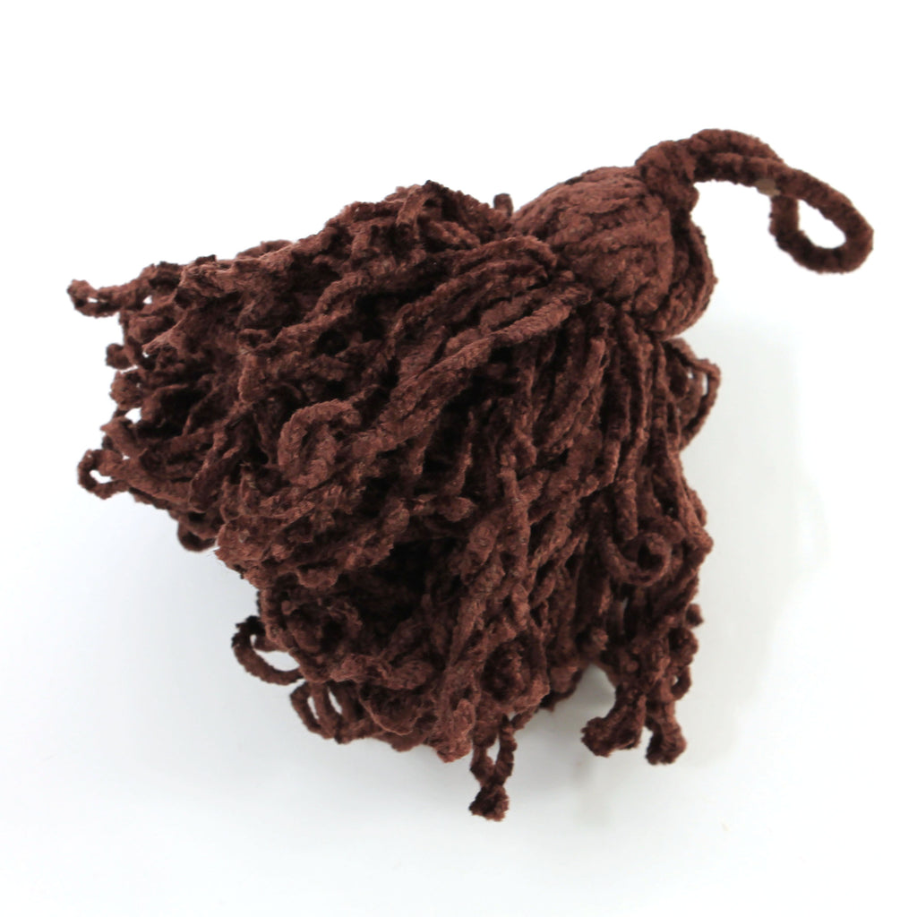 Poodle Tassels - Dark Chocolate, For Finishing