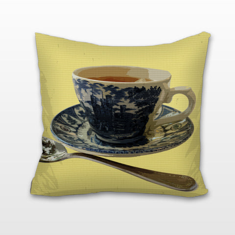 Teatime for One, Cushion, Pillow