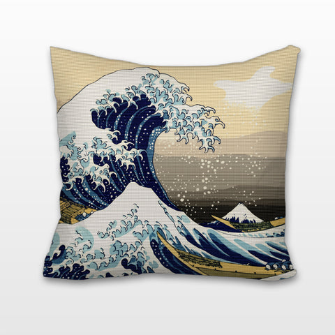 The Great Wave off Kanagawa, Cushion, Pillow