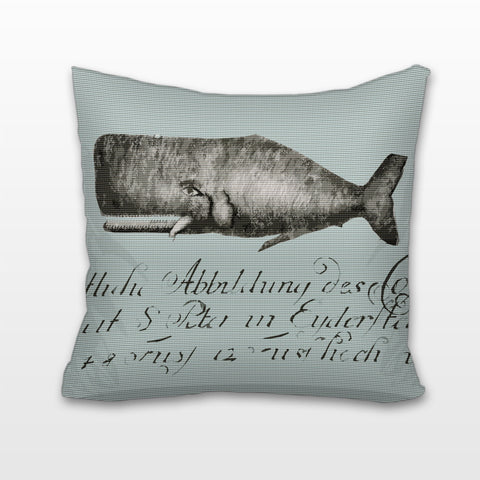 Whale, Cushion, Pillow