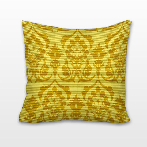 Golden Damask, Cushion, Pillow