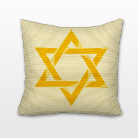 Yellow Star of David, Cushion, Pillow