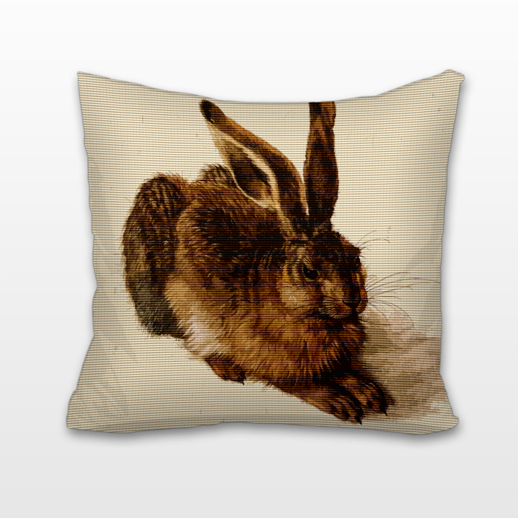 Young Hare, Cushion, Pillow