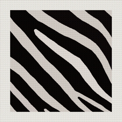 "Zebra Stripes, 5 x 5"" Miniature"