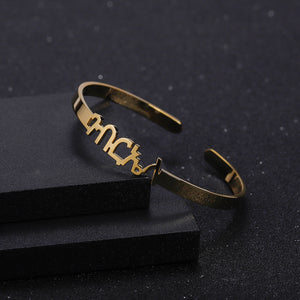 Personalized Amharic Cuff Bracelet