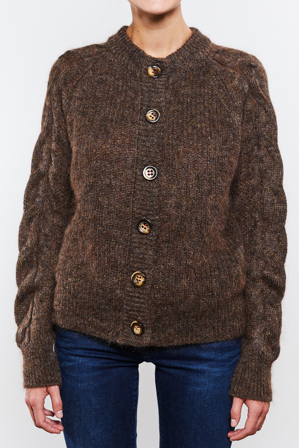 Rachel Cardigan Brown