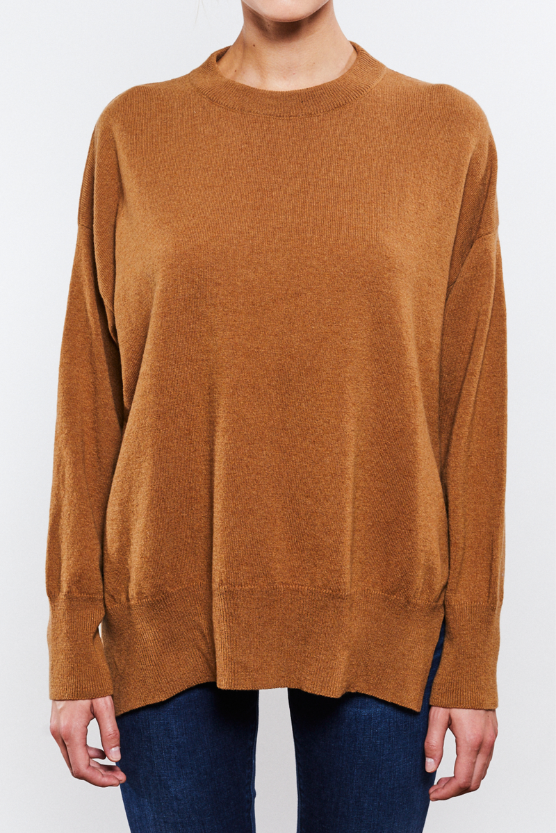 Phoebe Round Neck Camel - Sample