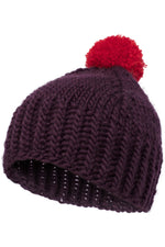 Pom Pom Hat Purple