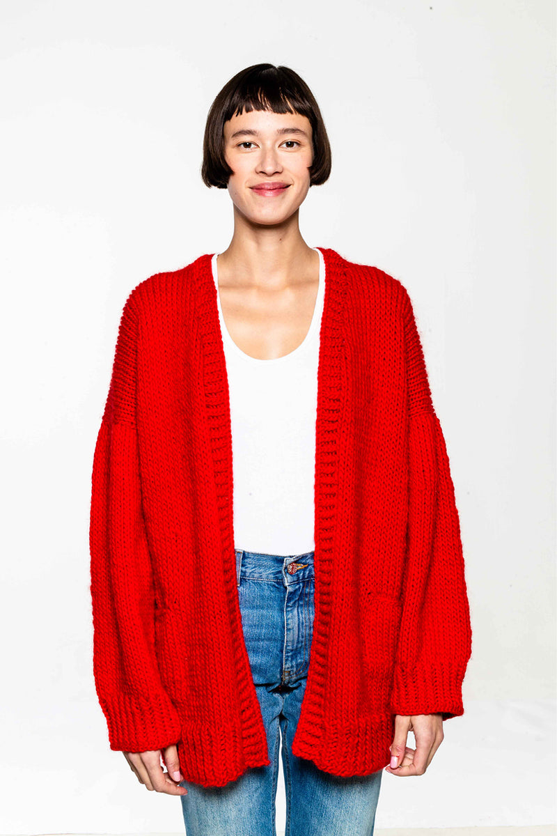 Kris Cardigan Red